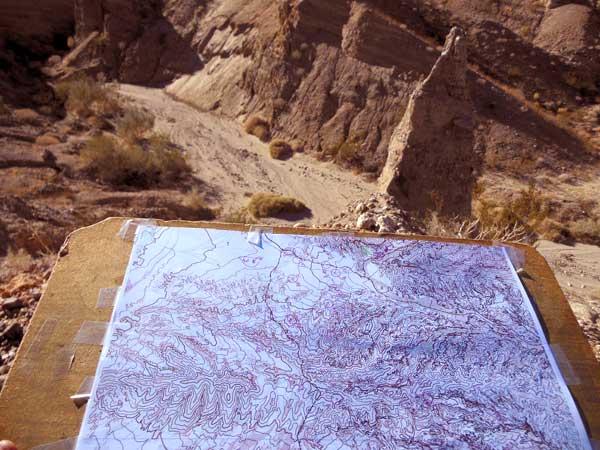 Anza Borrego Orienteering Map