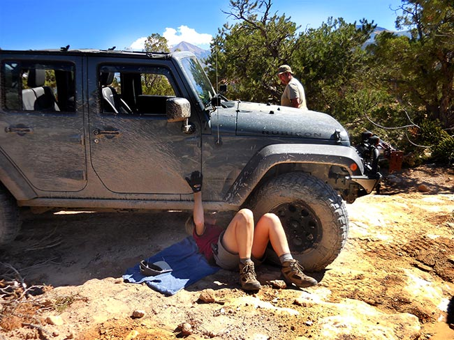 Under the Jeep